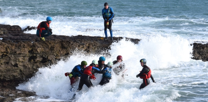 Coasteering. Huddle